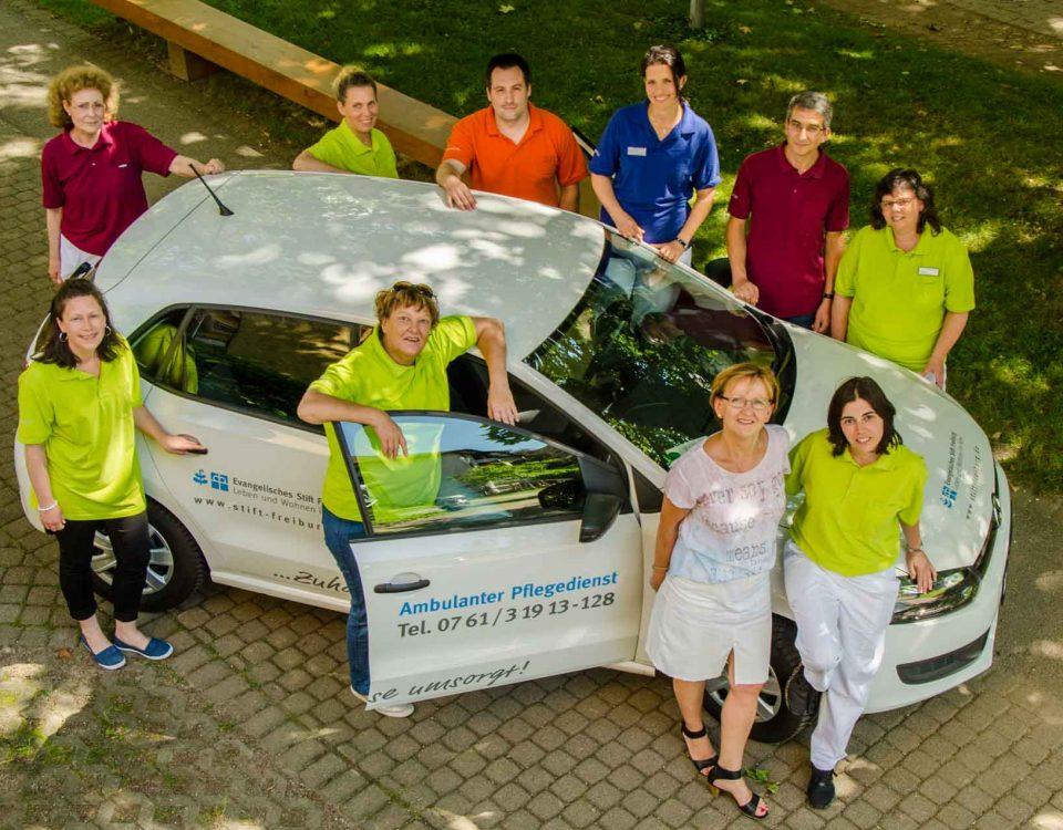 Das Team des Ambulanten Pflegedienstes.